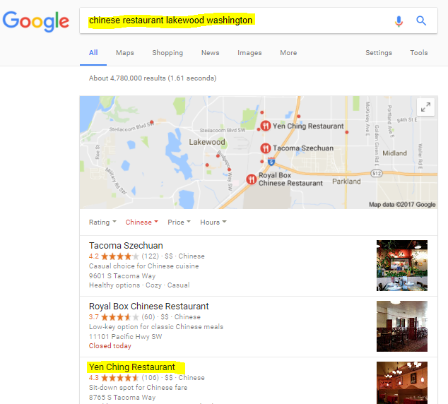 Local Restaurant SEO