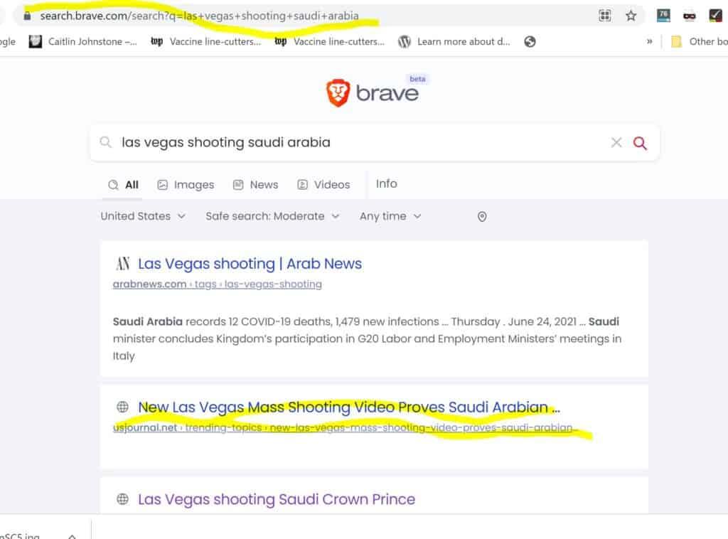 Las Vegas Shooting Saudi Arabia